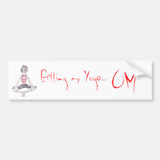 Yoga car bumper sticker