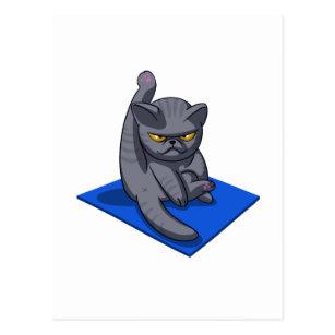 funny yoga poses postcards  zazzle au
