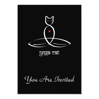 Yoga Cat - Sanskrit style text. Card