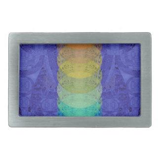 Yoga Chakra Tapestry Design Rectangular Belt Buckles