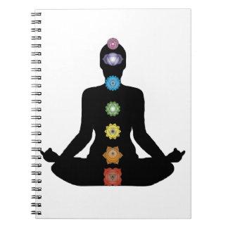 Yoga Chakras Fitness Exercise Notebook