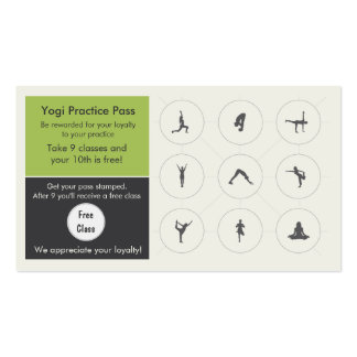Yoga Class Business Card loyalty card