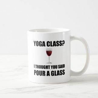 Yoga Class Glass Basic White Mug