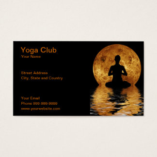 yoga club business card