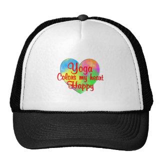 Yoga Colors My Heart Happy Cap