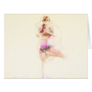 Yoga Concept Illustration Abstract as a Concept Big Greeting Card