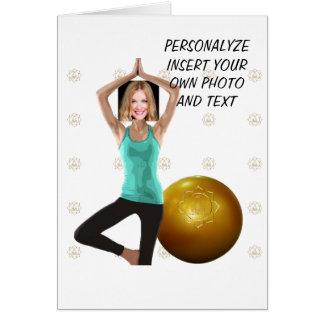 Yoga Dance Pilates, Funny WishCard - Photo & Text Card