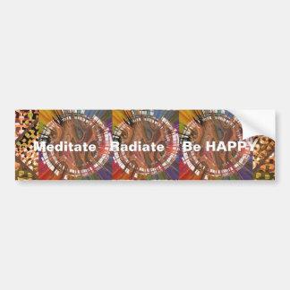 Yoga Darshan: Meditate, Radiate, Be Happy Car Bumper Sticker