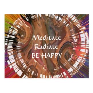 Yoga Darshan: Meditate, Radiate, Be Happy Postcard