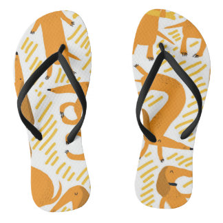 Yoga Dawg Dachshund Flip Flop Beach Sandals