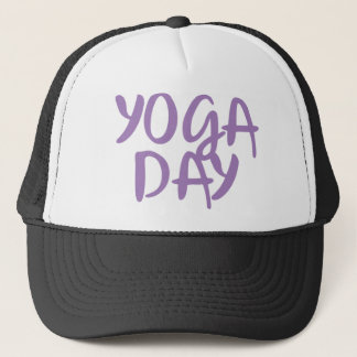 yoga day trucker hat