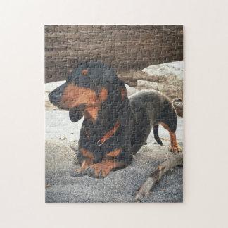 Yoga dog jigsaw puzzle