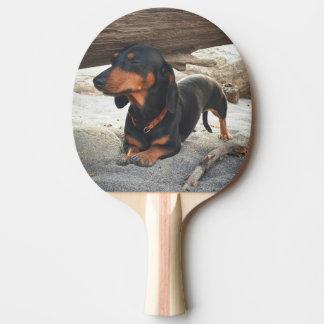 Yoga dog ping pong paddle