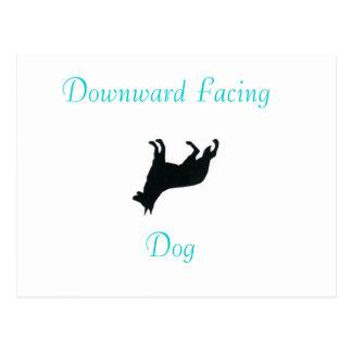 Yoga Downward Facing Dog Post Card