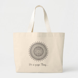 Yoga Dragonfly Yoga medallion Large Tote Bag
