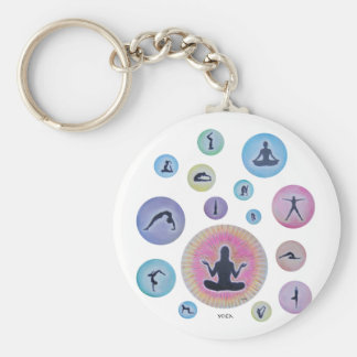 yoga dreaming basic round button key ring