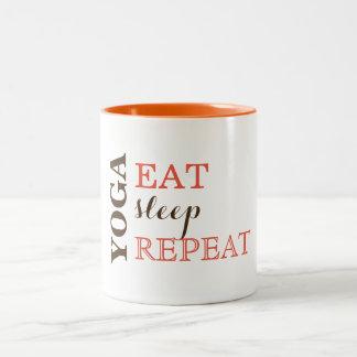 Yoga, Eat, Sleep, Repeat Two-Tone Coffee Mug