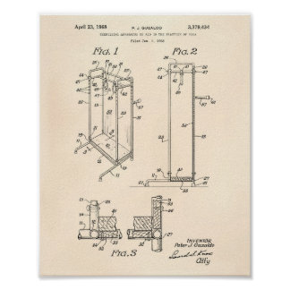 Yoga Exercising 1968 Patent Art Old Peper Poster