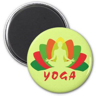 Yoga Flor de Loto Magnet