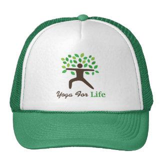 Yoga For Life Warrior Pose Tree Mesh Hats