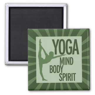 YOGA for mind body and spirit Magnet