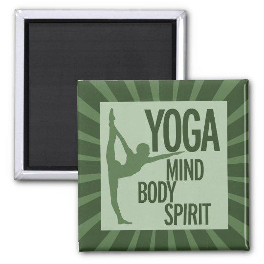 YOGA for mind body and spirit Magnet