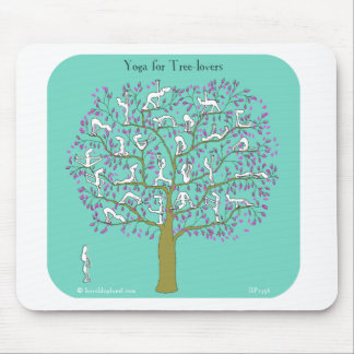 yoga for tree lovers mouse pad