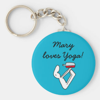 Yoga for Winelovers Blue Badge Key Ring