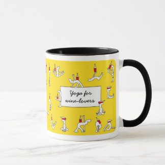 Yoga for Winelovers Yellow Mug