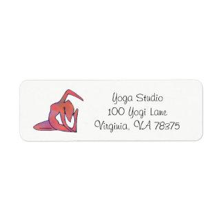 Yoga Girl Address Return Lable Return Address Label