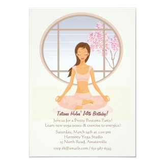 Yoga Girl Invitation