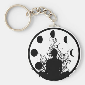 Yoga girl Key chain