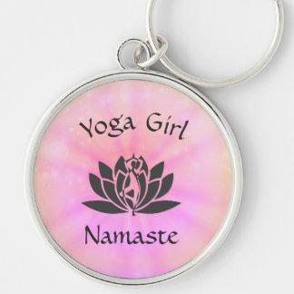 Yoga Girl Key Ring