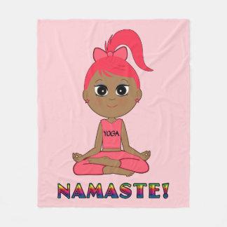 Yoga Girl Namaste Fleece Blanket