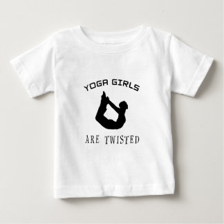 Yoga Girls Are Twisted Baby T-Shirt