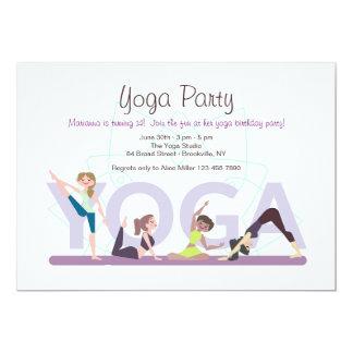 Yoga Girls Invitation
