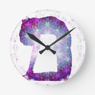 Yoga Goddess Pose Series Round Clock
