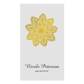 Yoga - Gold Lace Pack Of Standard Business Cards