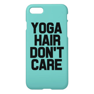 Yoga hair don't care funny phone case
