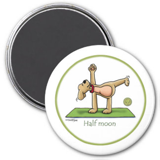 Yoga - Half Moon 7.5 Cm Round Magnet
