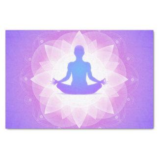 Yoga Harmony Purple Floral Art Illustration Tissue Paper