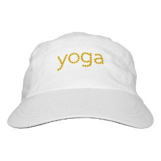 yoga hat with flower logo