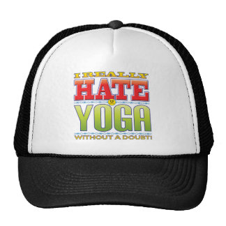 Yoga Hate Face Mesh Hats