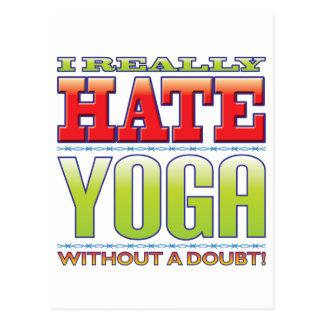 Yoga Hate Post Card