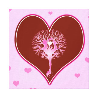 Yoga Heart Canvas Print