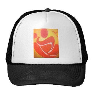 Yoga in orange mesh hat
