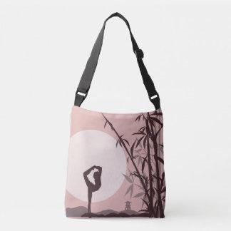 Yoga in Pink Crossbody Bag