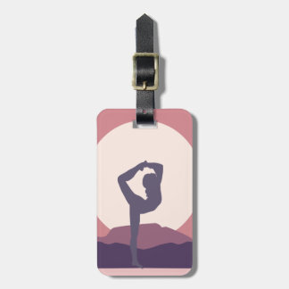 Yoga in Purple Luggage Tag