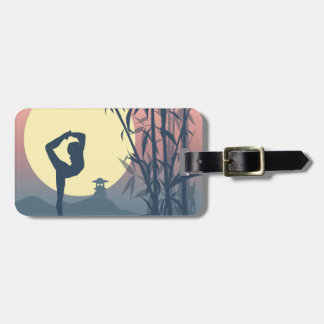 Yoga in the Mist Luggage Tag