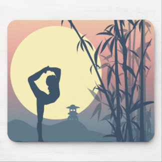 Yoga in the Mist Mouse Pad